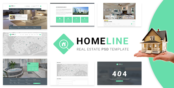 Homeline – Real Estate PSD Template