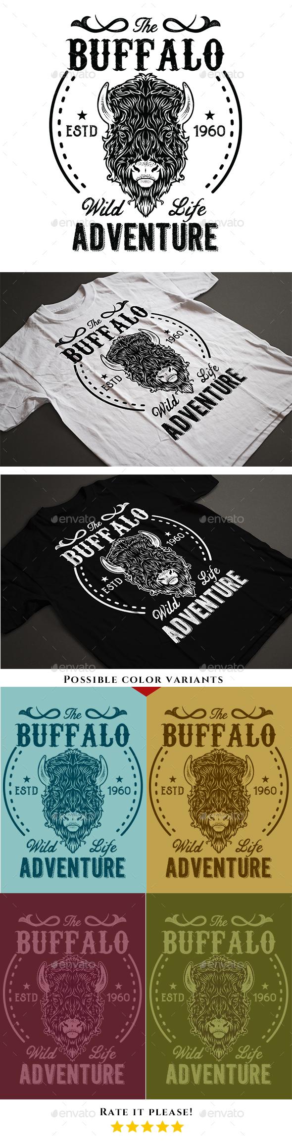 Vintage Buffalo T-Shirt - T-Shirts