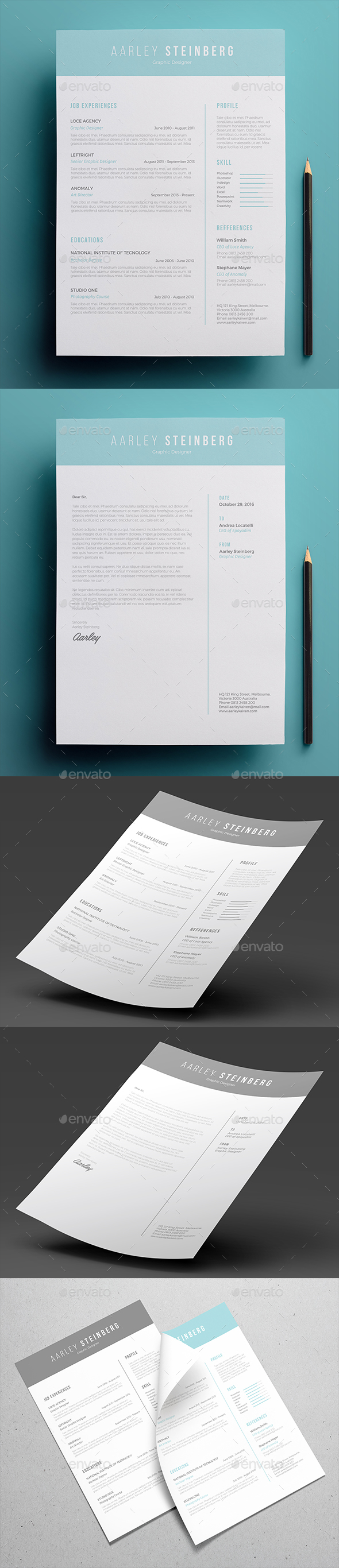 minimalist resume 03 by aarleykaiven graphicriver