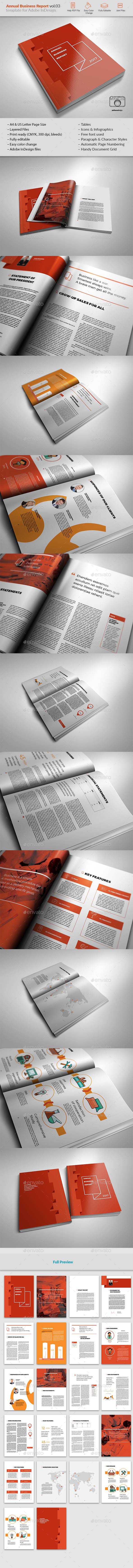 Annual Report Template vol.03 - Brochures Print Templates
