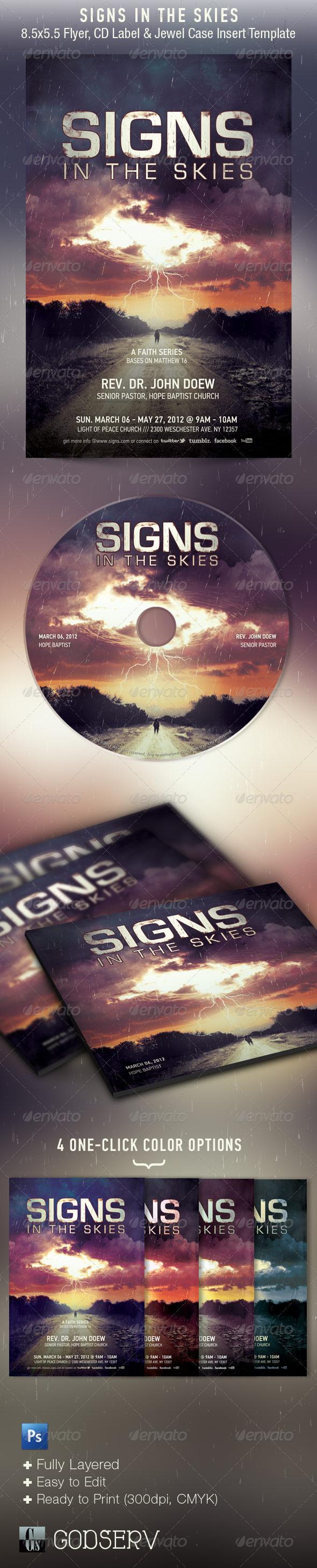 Signs Church Flyer CD Template - Church Flyers
