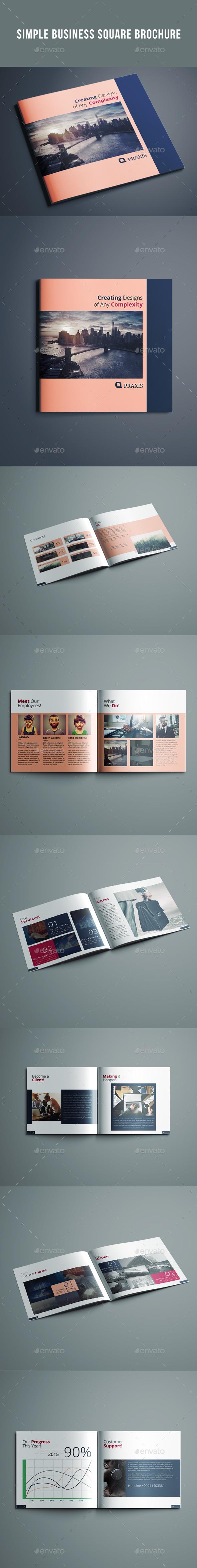 Simple Business Square Brochure - Catalogs Brochures