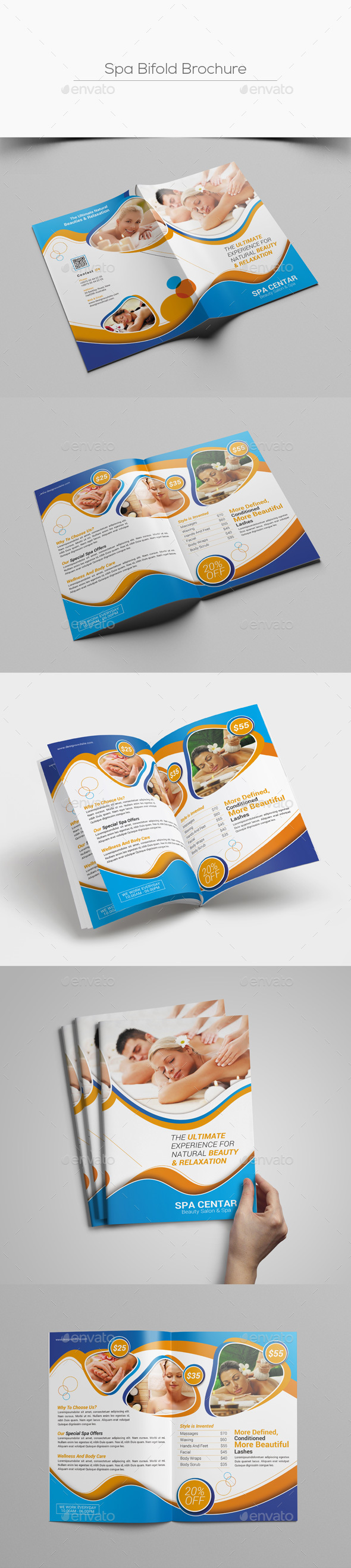 Spa Bifold Brochure - Corporate Brochures