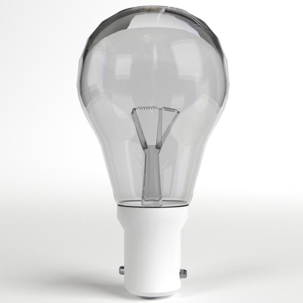 Incandescent Light Bulb Lamp - 3DOcean Item for Sale