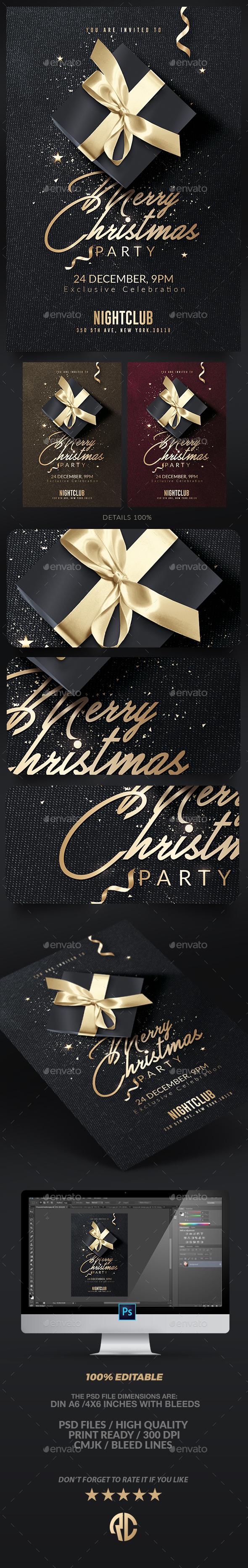 Classy Christmas Invitation | Psd Flyer - Events Flyers
