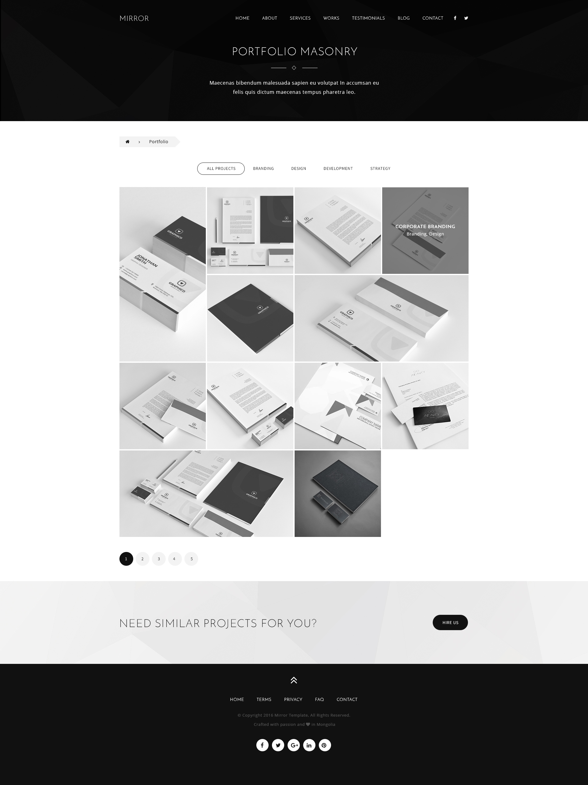 Mirror - Creative Onepage Agency PSD Template by PxlSolutions ...