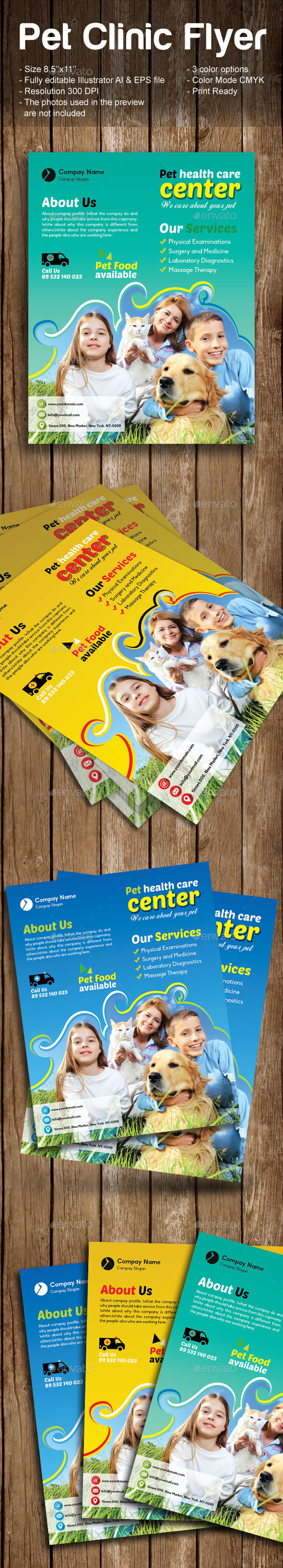 Pet Clinic Flyer - Commerce Flyers