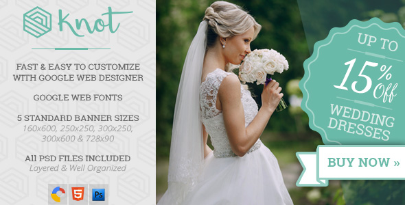 Knot Wedding Html5 Ad Template By Wiselythemes Codecanyon