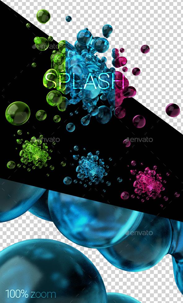 3D Render of Liquid Splash - Abstract 3D Renders