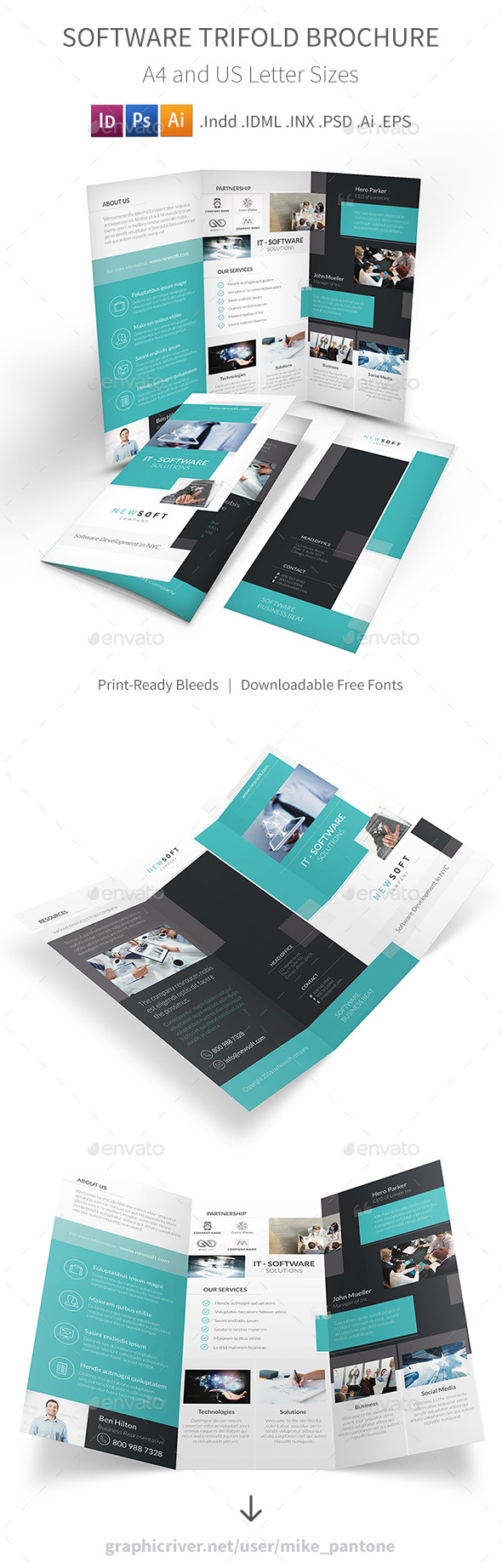 Software Company Trifold Brochure - Informational Brochures