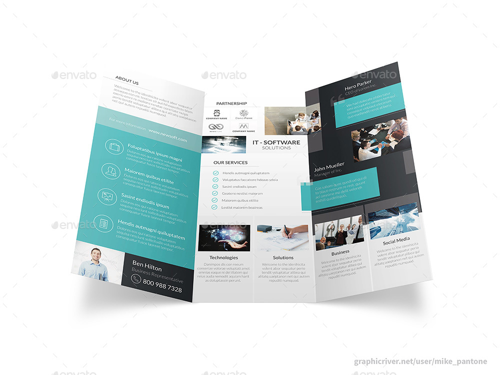 Software Company Trifold Brochure By MikePantone  Graphicriver