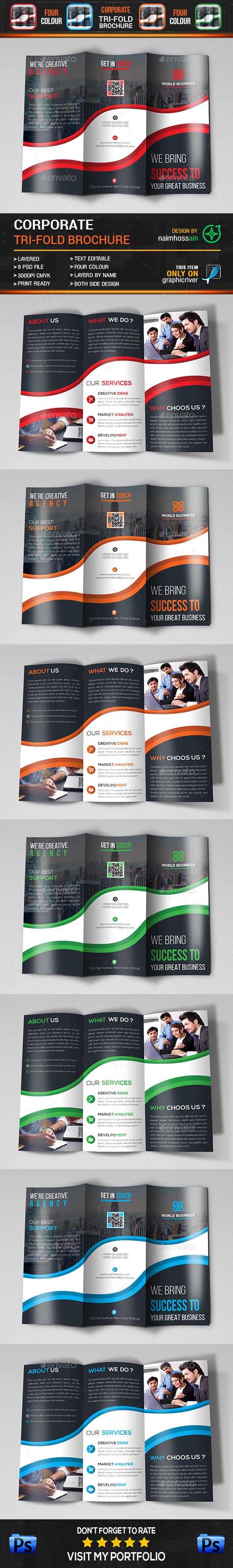 Corporate Tri-Fold Brochure - Brochures Print Templates