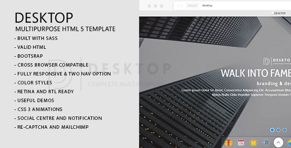 Desktop | Multi-Purpose HTML5 Template