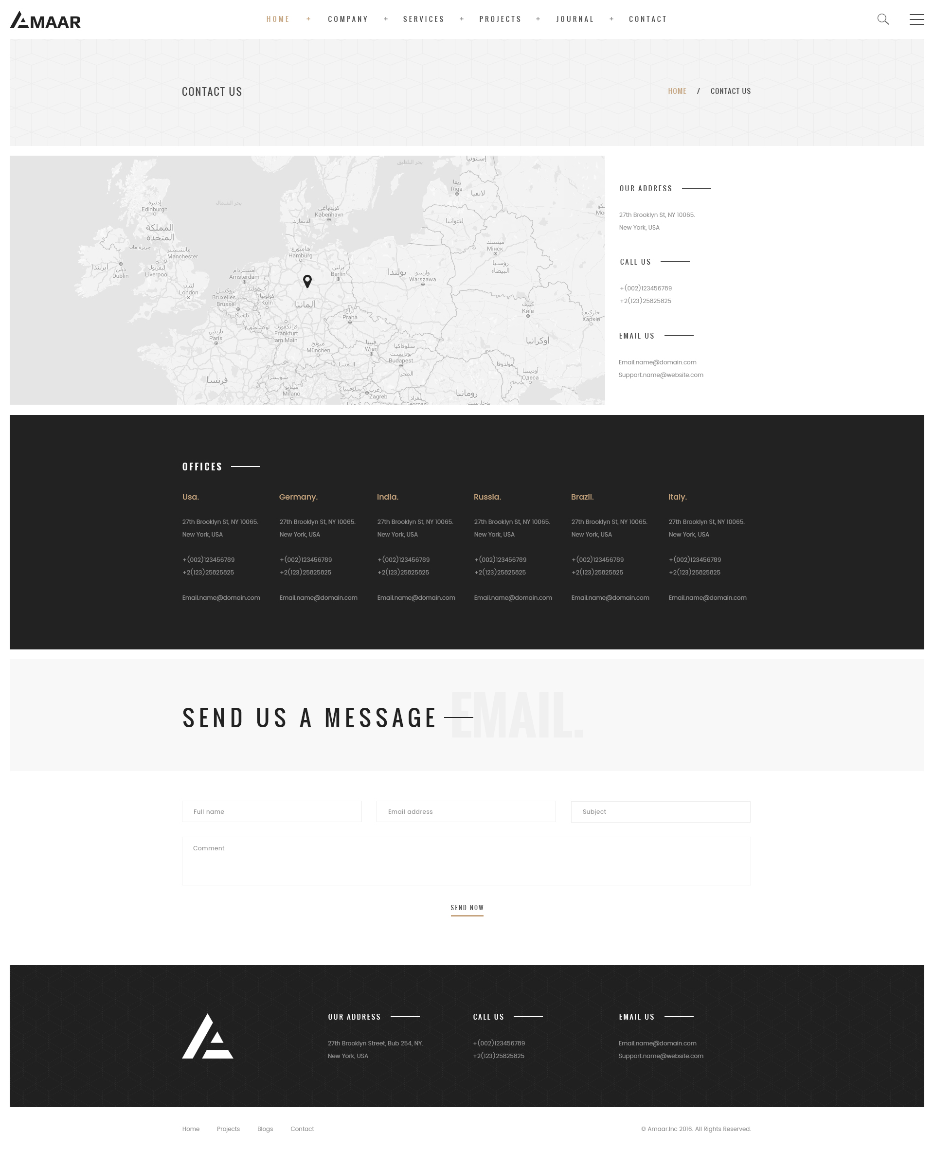Creative Architecture & Interior PSD Template By