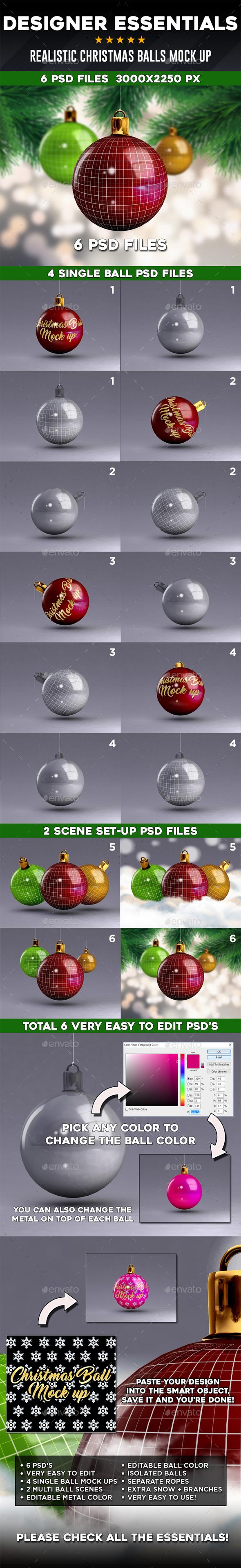Designer Essentials Christmas Balls Mock up - Miscellaneous Print