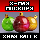 Designer Essentials Christmas Balls Mock up - GraphicRiver Item for Sale