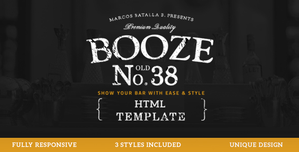 Booze - Pub HTML Template - Restaurants & Cafes Entertainment