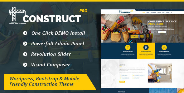 Construction  - Construction Business WordPress Theme (Construct Pro) - Corporate WordPress