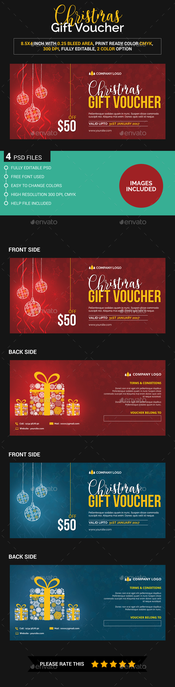 Christmas gift voucher (Images Included) - Loyalty Cards Cards & Invites