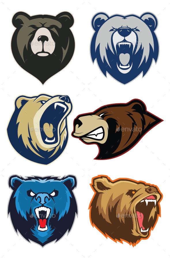 Bear Mascot Logo - Animals Characters