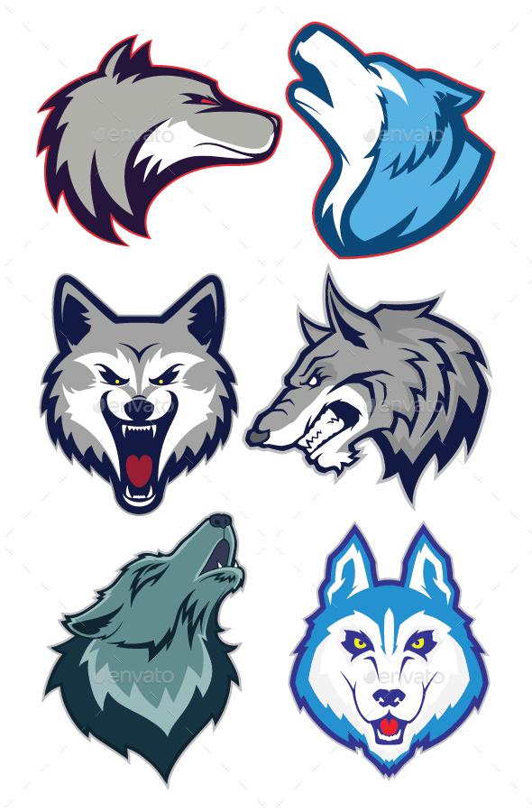wolf mascot logo by sundatoon graphicriver