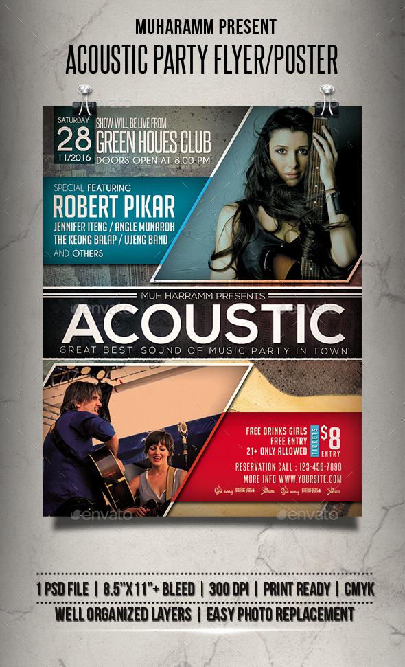 Acoustic Party Flyer / Poster - Events Flyers