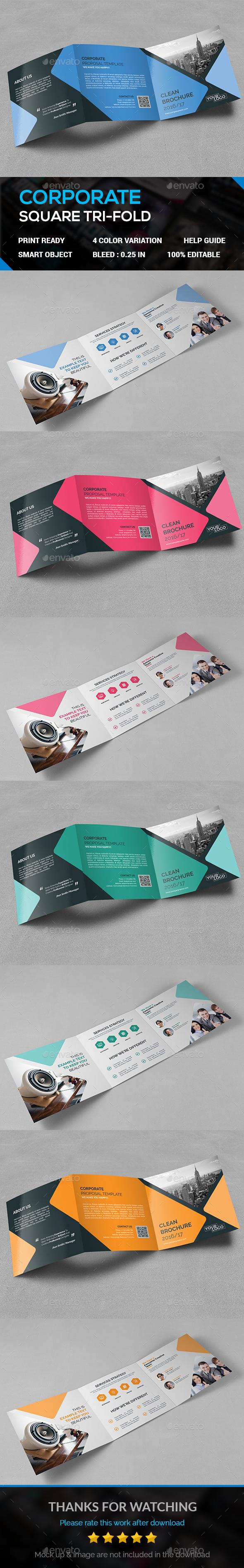 SQUARE TRI-FOLD - Brochures Print Templates