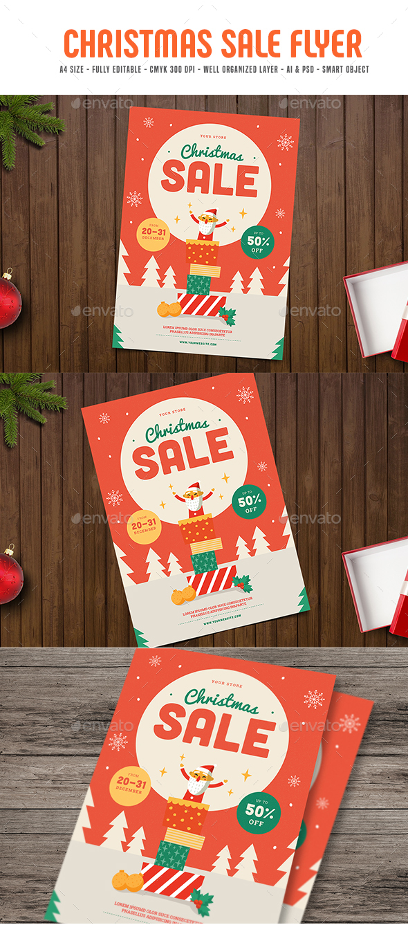 Christmas Sale Flyer - Flyers Print Templates