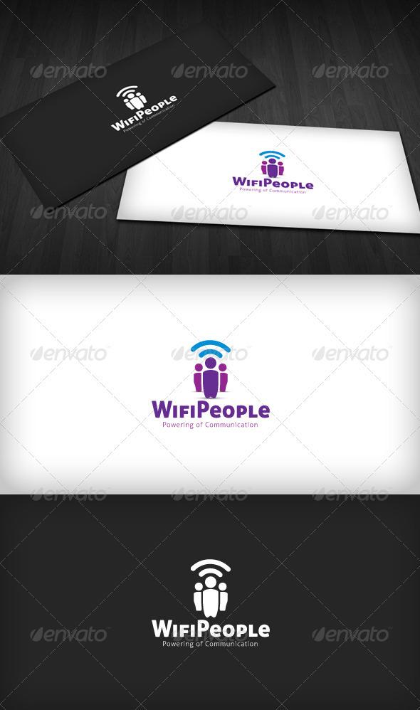 Wifi People Logo - Symbols Logo Templates