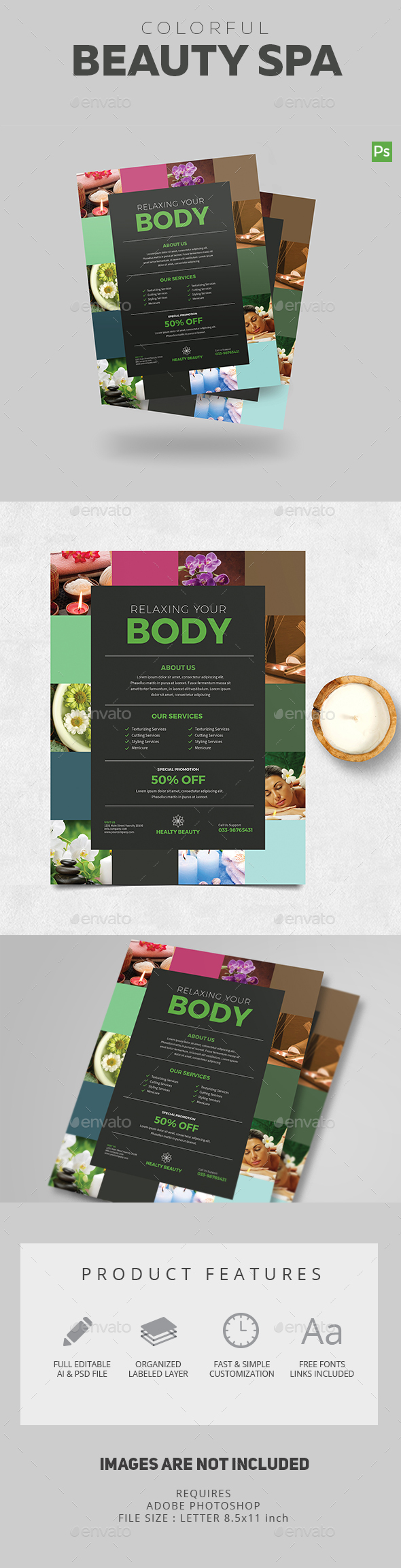 Colorful Spa Flyer - Corporate Flyers