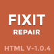 Phone, Computer Repair Shop Website Template | Fixit - ThemeForest Item for Sale
