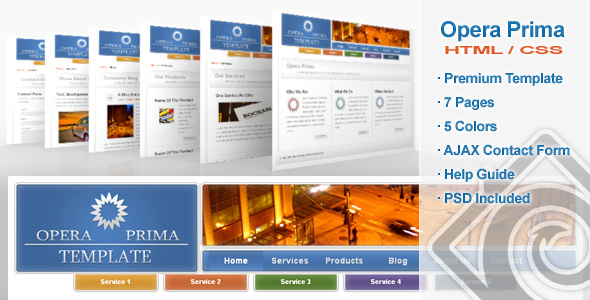 Free Download Opera Prima - Premium HTML Template - 5 in 1 Nulled Latest Version