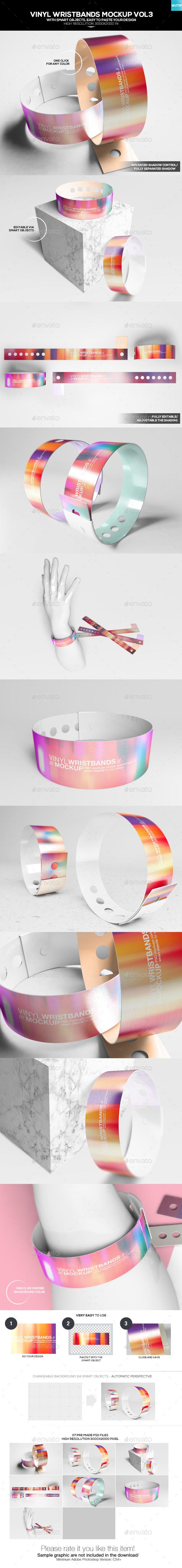 Vinyl Wristbands Mockup Vol3 - Miscellaneous Product Mock-Ups