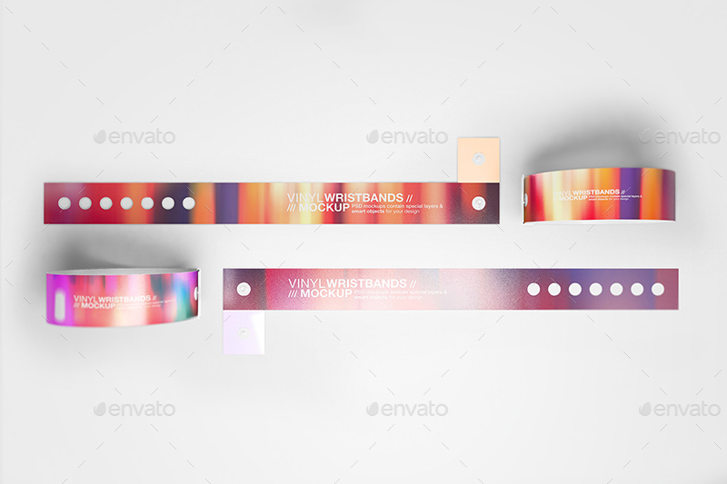 Vinyl Wristbands Mockup Vol3 By Wutip Graphicriver