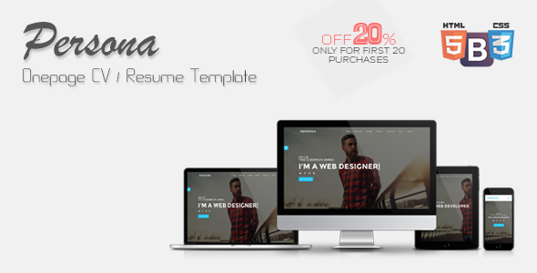 Persona - Onepage CV/Resume Template - Resume / CV Specialty Pages