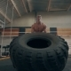 Fit Muscular Man Doing Crossfit Exercises - VideoHive Item for Sale