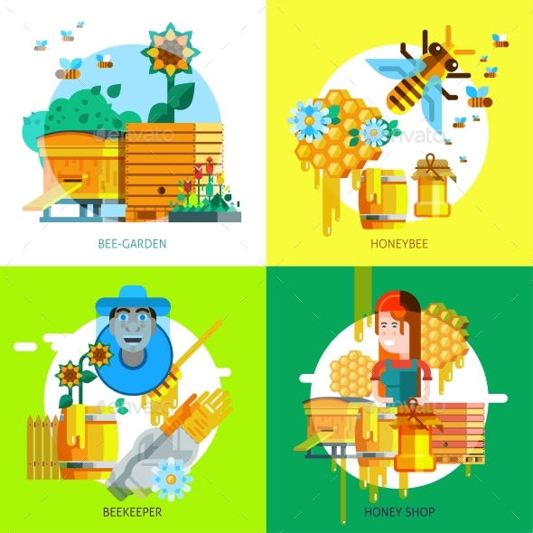 Colorful Beekeeping Concept - Nature Conceptual