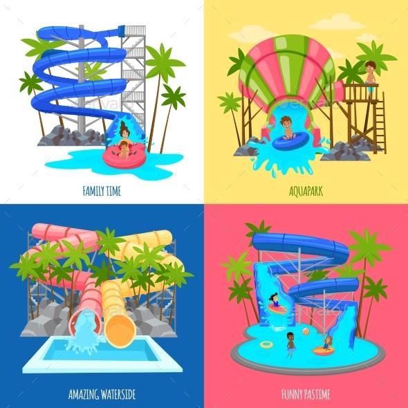 Aquapark Design Concept - Sports/Activity Conceptual