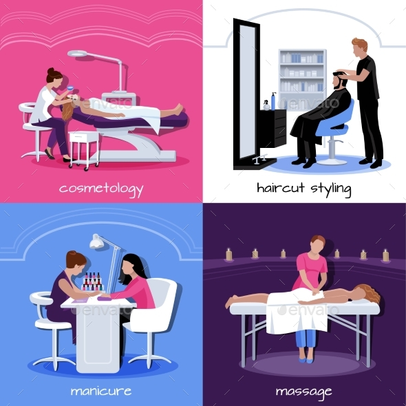 Beauty Salon People Concept - Abstract Conceptual