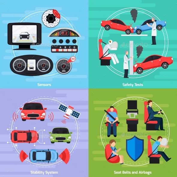 Car Safety Systems Template - Abstract Conceptual