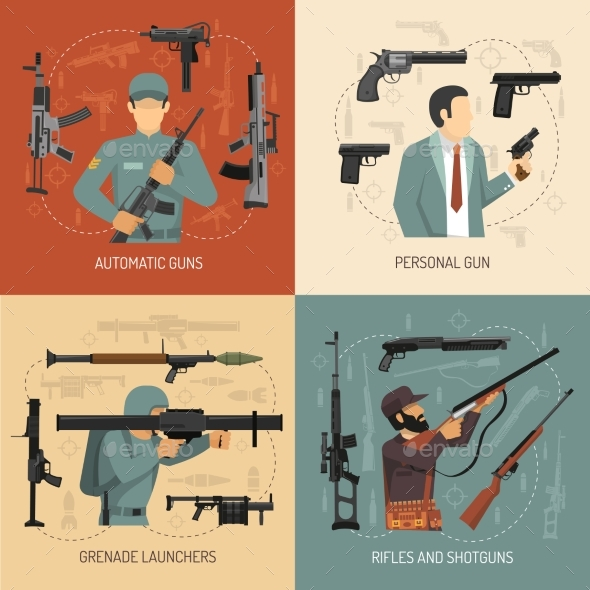 Weapons Guns 2X2 Design Concept - Miscellaneous Conceptual