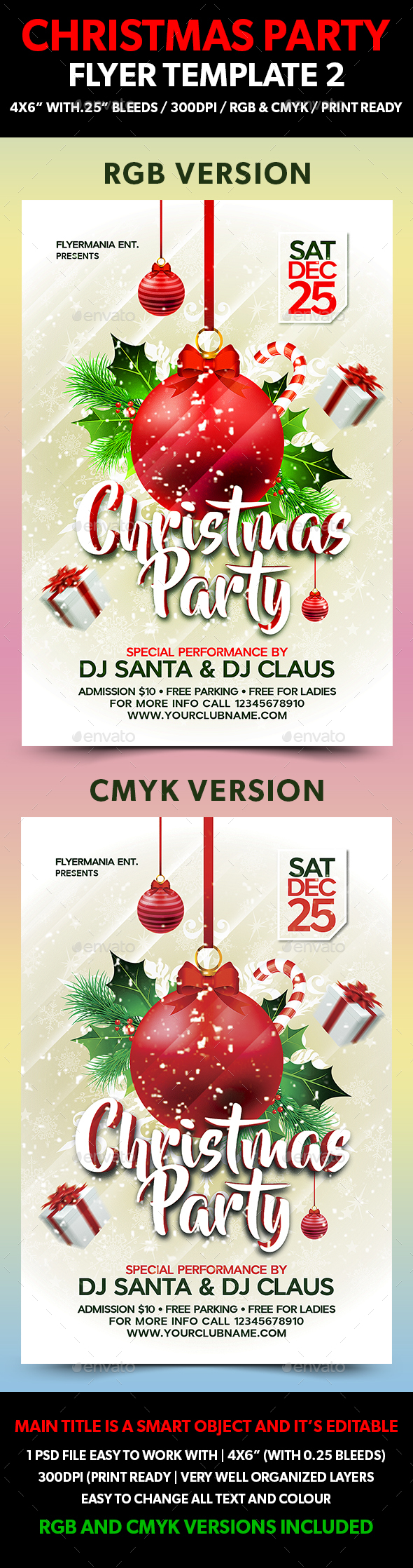 Christmas Party Flyer Template 2 - Events Flyers