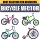 Bicycle Design Vector Set - GraphicRiver Item for Sale