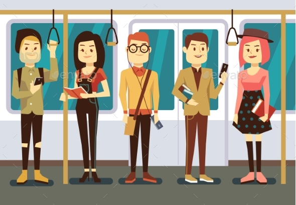 Man And Woman With Smartphone, Gadgets Book - People Characters