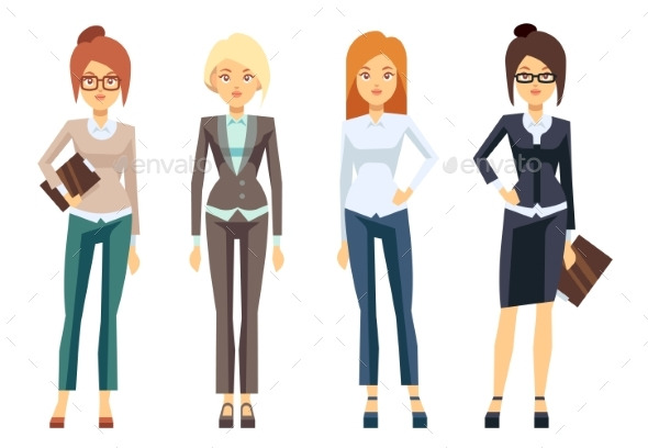 European Businesswoman Clothes, Young Female - People Characters