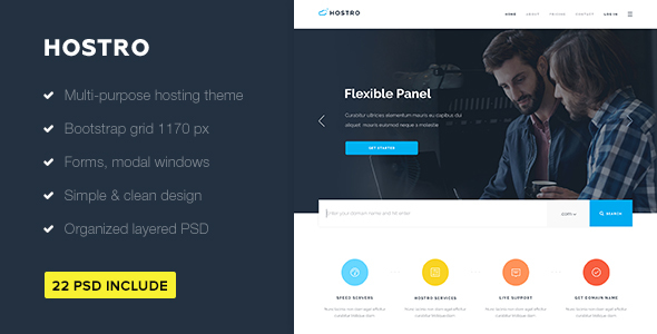 Hostro — Hosting PSD Theme - Hosting Technology