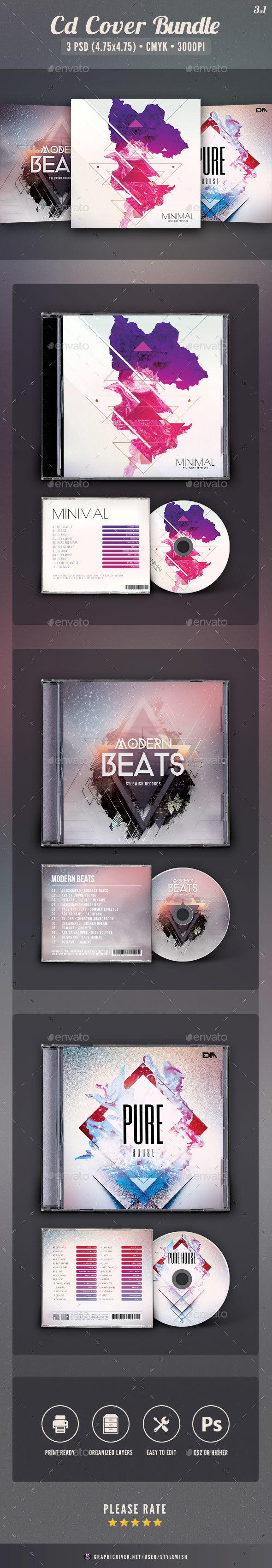 Abstract CD Cover Bundle Vol.02 - CD & DVD Artwork Print Templates