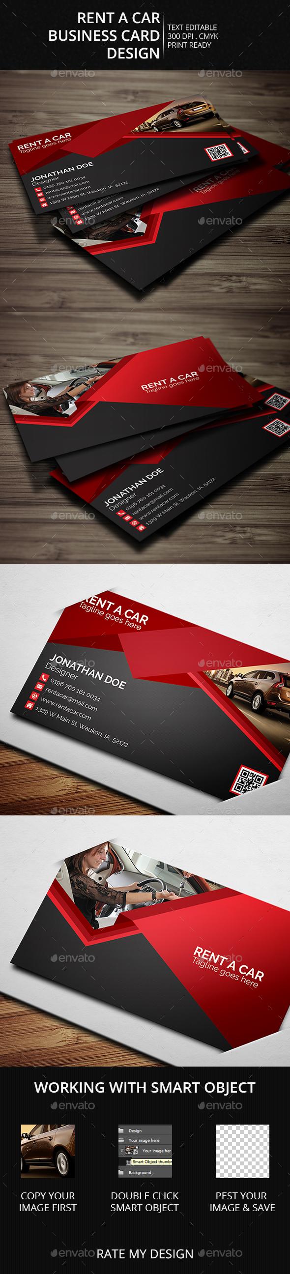 Rent a Car - Business Cards Print Templates