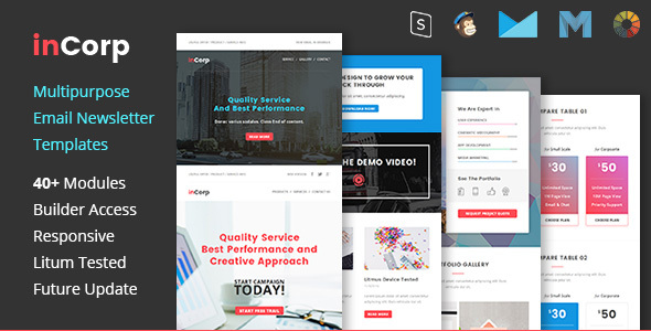inCorp – Corporate Email Newsletter Templates