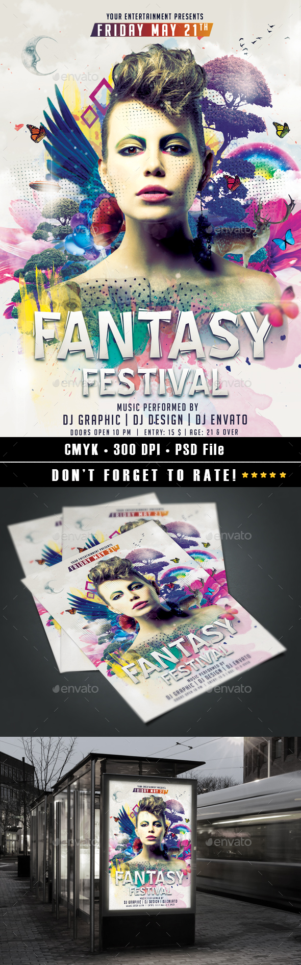 Fantasy Festival Flyer - Events Flyers